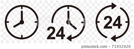 時鐘24小時圖標集 71932920