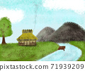 Picture book fairy tale background illustration 71939209
