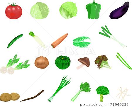 可愛的簡單蔬菜插圖集4 71940233