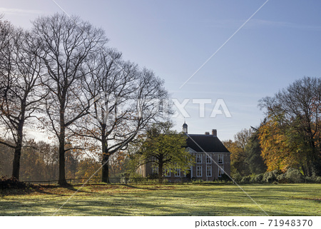 Autumn view on a manor house 71948370