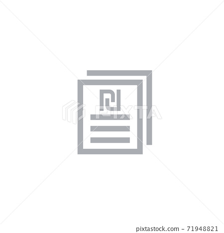 payroll icon, documents with shekel sign 71948821