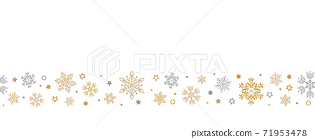 Seamless ice crystal pattern gold gold 71953478