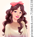 Portrait of a beautiful young girl 71963238