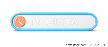3D Search Bar on White 71964601