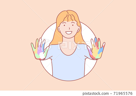 Amity, learning, hands, play concept 71965576