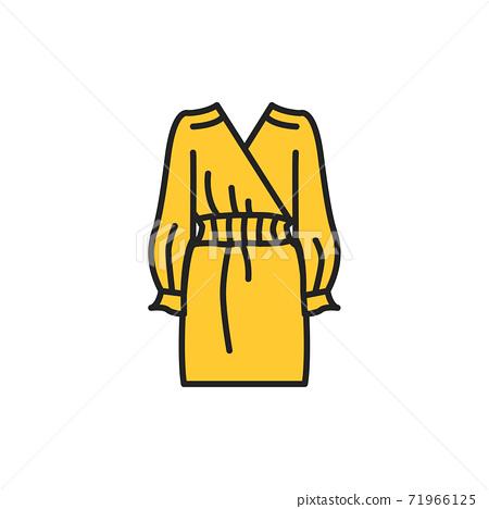 Dress color line icon. Pictogram for web page, mobile app, promo. 71966125