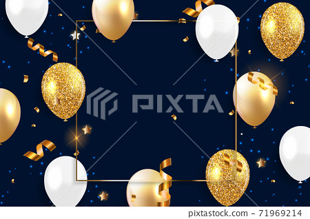 Holiday Background with Balloons. Vector Illustration 71969214