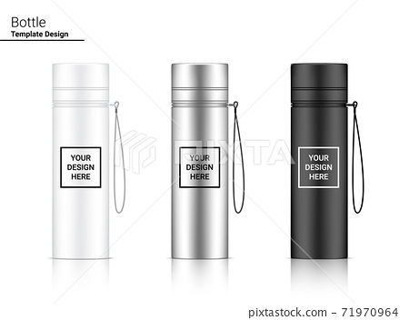 Bottle 3D Mock up Realistic Plastic Shaker in Vector for Water and Drink. Bicycle and Sport Concept Design. 71970964