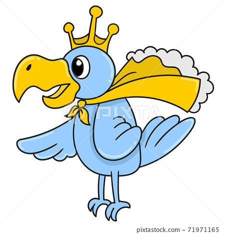 king of bird pelican doodle kawaii  71971165
