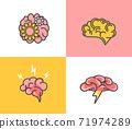 Set of brain concept.Brainstorming,idea,creativity 71974289