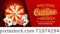 Welcome online casino gorizontal banner. 71974294