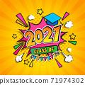 Class of 2021, graduation banner. 71974302