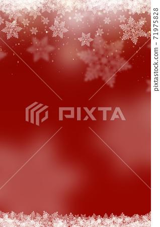 겨울 크리스마스 얼음 결정 눈송이 배경 빨강 일러스트 71975828