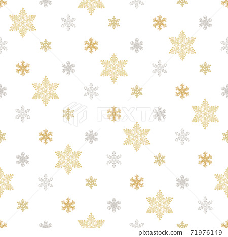 Seamless ice crystal pattern gold gold 71976149
