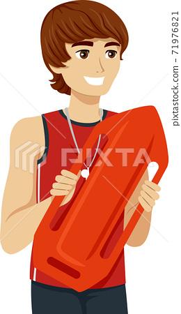 Teen Boy Job Lifeguard Illustration 71976821