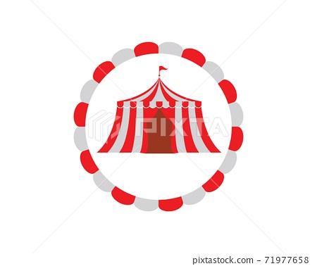 Circus tent logo template. Vector 71977658