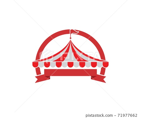 Circus tent logo template. Vector 71977662