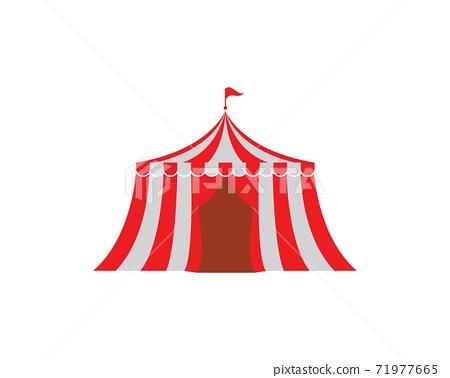 Circus tent logo template. Vector 71977665