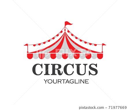 Circus tent logo template. Vector 71977669