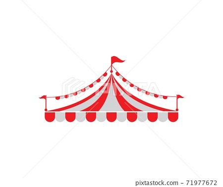 Circus tent logo template. Vector 71977672