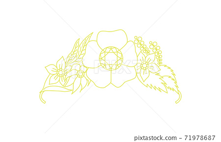 頭飾線描illustration_27 71978687