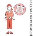 Women who endure menstrual cramps 71978894