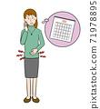 Women who endure menstrual cramps 71978895