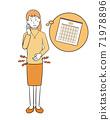Women who endure menstrual cramps 71978896