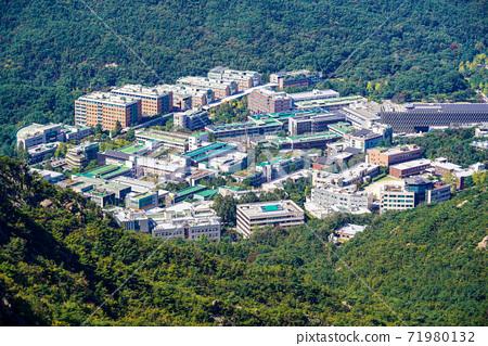 한국 서울시 관악구 과천시 관악산 전경 71980132