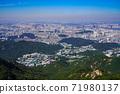 한국 서울시 관악구 과천시 관악산 전경 71980137