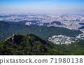 한국 서울시 관악구 과천시 관악산 전경 71980138