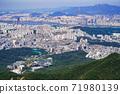 한국 서울시 관악구 과천시 관악산 전경 71980139