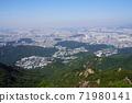 한국 서울시 관악구 과천시 관악산 전경 71980141