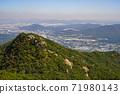 한국 서울시 관악구 과천시 관악산 전경 71980143