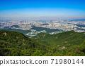 한국 서울시 관악구 과천시 관악산 전경 71980144