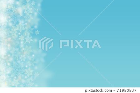 Winter Christmas ice crystals snowflake background light blue blue illustration 71980837