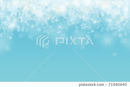 Winter Christmas ice crystals snowflake background light blue blue illustration 71980840