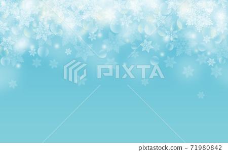 Winter Christmas ice crystals snowflake background light blue blue illustration 71980842