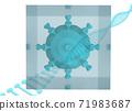 病毒映像3DCG密封+螺旋 71983687