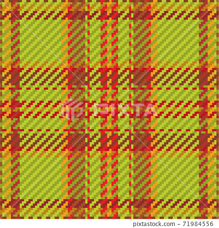 Seamless pattern of scottish tartan plaid. Repeatable background with check fabric texture. Vector backdrop striped textile print. 71984556