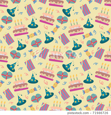 Happy Birthday pattern in vector 71986726