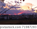 從玉川台公園看日落之後的光束 71987283