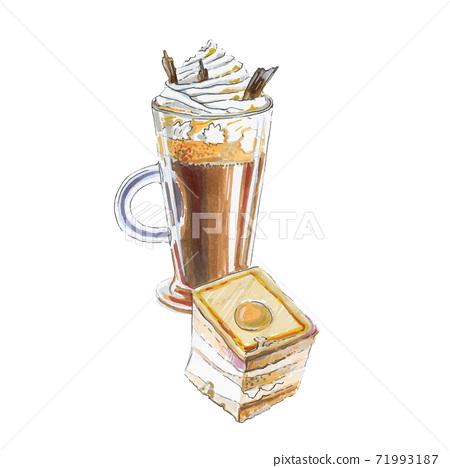 Coffee glace, banana pudding 71993187