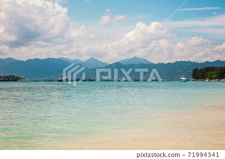 Beautiful day view of Gili Meno and Lombok islands 71994341
