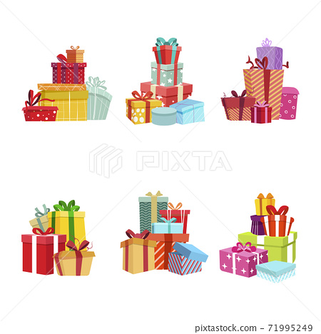 Gift box pile for present, party birthday and christmas surprise 71995249