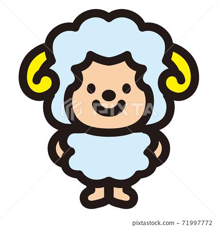可愛的綿羊性格 71997772