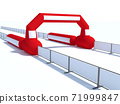 Inflatable start and finish line arch illustrations - Inflatable archways suitable for outdoor sport events 3d render 71999847