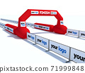 Inflatable start and finish line arch illustrations - Inflatable archways suitable for outdoor sport events 3d render 71999848