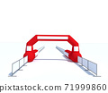 Inflatable start and finish line arch illustrations - Inflatable archways suitable for outdoor sport events 3d render 71999860