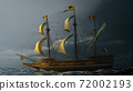 Galleon on the sea 72002193